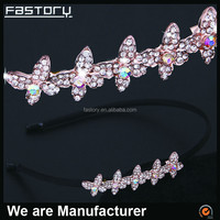 high end elegant rhinestone metal hair accessories wholesale for woman