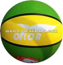 Colorful basketballs
