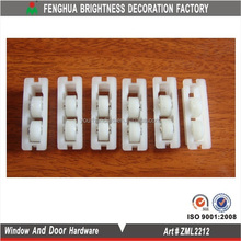 Window blind roller mechanisms,tandem window sash pulleys