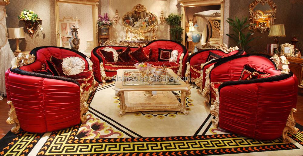 luxe style victorien rembourr s rouge canap en tissu ensemble l gante superbe amour en forme. Black Bedroom Furniture Sets. Home Design Ideas