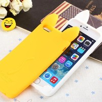 New 3D Cute Rabbit Soft Silicone Back Case Cover for iPhone 6