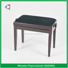 Adjustable matt Piano Bench , Rise/Fall wooden piano chair