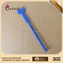 Promotion custom shape stick OEM plastic drink swizzle stick