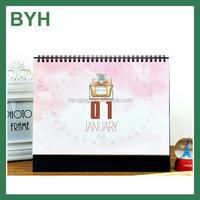 Accept OEM office stand desk calendar,unique desk calendar design ,double side full color print calendar