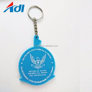 새로운 창조적 인쇄 로고 부드러운 PVC 키홀더 키 체인 판매