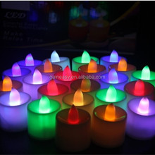 pillar colorful electric decorative mini led lights/multicolor tea light candle