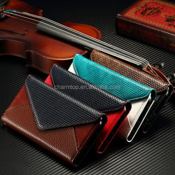 Dual Color Leather Wallet Case for Galaxy S6