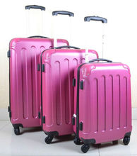 Stock 3pcs ABS luggage set with Universal wheels