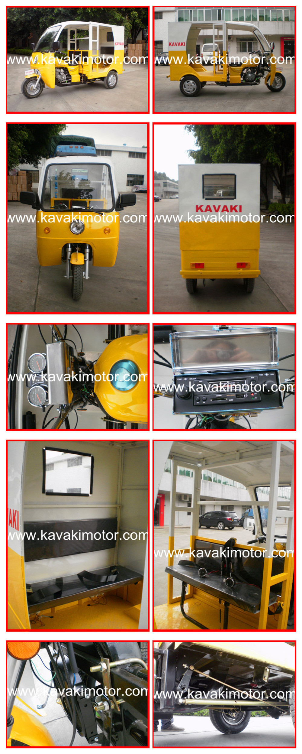 Factory Oulet Petrol Powered Similar As Bajaj Model Tuk Tuk Taxi Passenger Tricycle 0086-15217691767