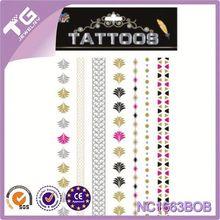 Fake Golden Tattoo,Handmade Tattoo Choker Necklace,Temporary Metallic Tattoos