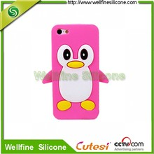 Cute 3D penguin unique soft silicone cell phone case for apple4