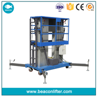 Jinan city factory 14m 250kg aerial work platform electric home use high rise window cleaning lift