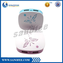 Top selling portable dual usb power bank 3600mah powerbank