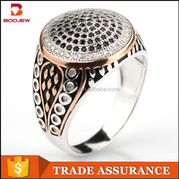 Wholesale istanbul fashion silver jewelry hot sale rose gold filled men silver finger ring as photoes