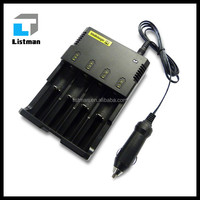 Li ion Battery Charger 3.7v Nitecore I4 Multi 18650 Battery Charger for E cigaret portable AA SIZE battery charger wholesale