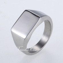 Trendsmax Rock & Roll Smooth Mens Casting Wrench Wrap Ring Silver Tone 316L Stainless Steel Ring