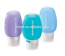 Multicolor Plastic Cosmetic Bottle for Travelling 50ml /Airless Cosmetic Bottle /Water bottle