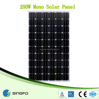 A-grade cell high efficiency 250w mono solar modules pv panel
