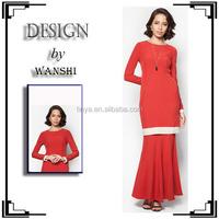 New arrival fashion muslim model baju kebaya