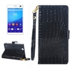 New Products 2016 Mobile Phone Crocodile Texture Wallet Flip Cover for Sony xperia C4 Case Cover