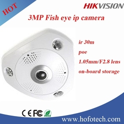 Hikvision 3MP Fisheye IP Camera 360 degree panoramic view cctv camera
