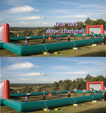 bumper ball field inflatables / inflatable sports field for bubble soccer / bubble soccer pitch