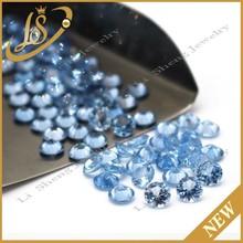loose cubic zirconia round hot sale bule cz diamonds