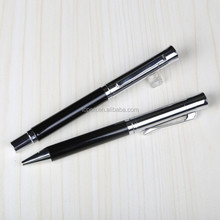 Hot sell Metal ball pen set with moving clip business pocket pen