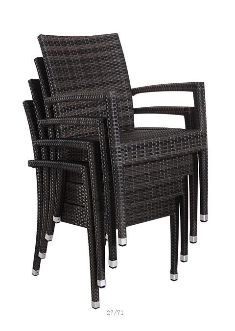 Modern outdoor furniture restaurant used dining rattan