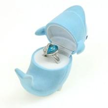 2015 China High Quality Custom Velvet Packaging Blue Trinket Box