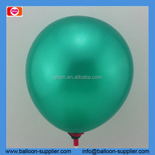 Air fill 12inch green pearlized round shaped wedding balloons for party ballon