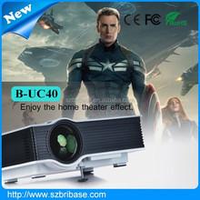 Latest cheap UC40 high lumens 800lumens full hd 1080p led mini projector mobile phone