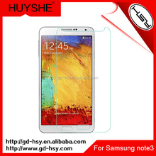HUYSHE reflective transparent film tempered glass screen protector for samsung note3