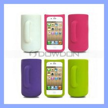 Cute Silicone Case for iPhone 4 4S with Funny Cup Design