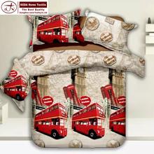 Adult european bedroom 100% organic cotton fabric 4pcs bedding set king queen size 3d cotton bed sheet exporter