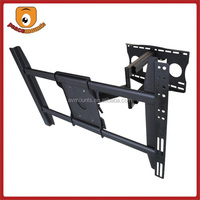 Tilt 15 Degrees SPCC Structure Steel Swivel VESA 400X600 Cantilever Foldable Removable Curved TV Bracket For 32-60 Inch Monitor