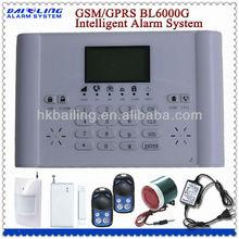 Sistema de alarma bl6000g gran pantalla lcd sistema de alarma gsm,/sms mms/llamando de acogida
