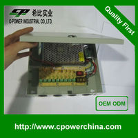 Favorable 12v AC/DC Power supply 5A 9CH switching power Supply FOR cctv /LED