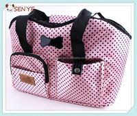 Popular pet dog carrier, Nylon dog handbag with dots