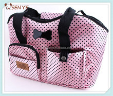 Popular pet dog carrier, Nylon dog handbag with dots