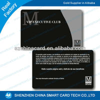 Promotion Printed PVC fidelity card for Jewelry