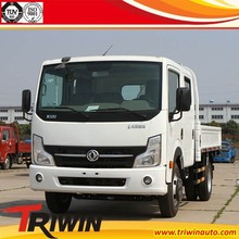 2015 new product 4x2 drive wheel EURO4 two cabin 130hp 96KW diesel engine 6 wheel light china mini trucks