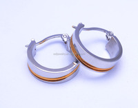 custom platinum plated hoop jewelry fashion earrings for 1 dollar