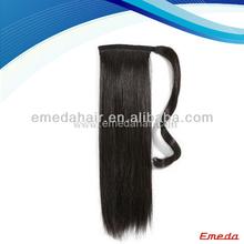 Good quality human hair ponytail extension claw clip ponytail human hair extension indian remy hair ponytail