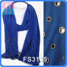 metal rim edged fashion lady scarf viscose