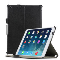 New Arrival Black Handhold leather case for ipad air