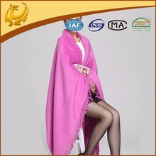 Custom Design Factory Wholesale Warm Bamboo Throw Airline Blanket With Tassel