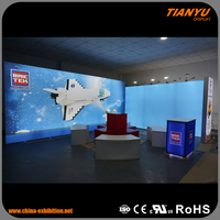 Good Feedback Super Quality Custom Fit Trade Show Plastic Advertising Stand Exposure System Booth