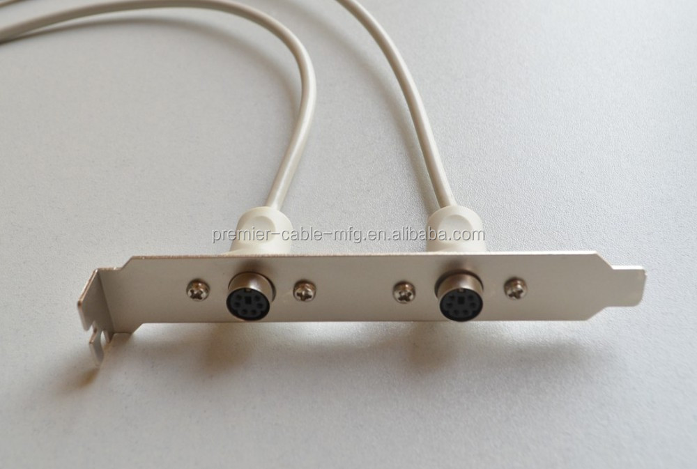 Adapter Ps 2 Socket 10 Pin Header 0 25m Brackets On Slot