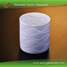 hIgh temperature resistance hollow out design ceramic candle lamp holder